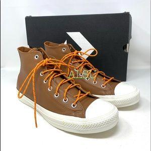 Converse Ctas High Top Leather Tan Men's Sneakers
